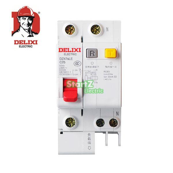 Автоматический выключатель 10A 16A 20A 25A 32A 40A 63A 1P + N RCBO RCD DE47sLE DELIXI