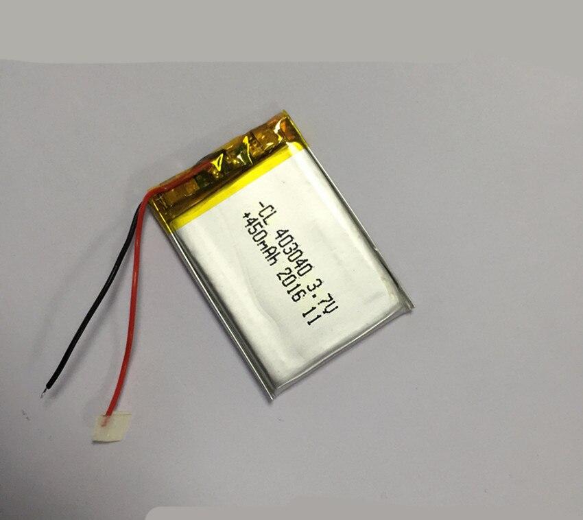 1 unidad 450mAh 3,7 V 403040 043040 batería recargable de polímero de litio Baterías de polímero de litio para MP3 MP4 auriculares Bluetooth GPS