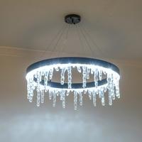 Modern Art Light Fixtures Hanging Lamp Black Chandelier icicle string lights led Icicle Lamps for Hotel living room bedroom