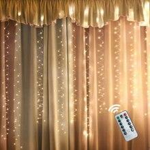 5V USB 3M 100/200/300 LED Outdoor Urlaub Weihnachten Dekorative Hochzeit String Fairy Vorhang Girlanden Party lichter Mit Fernbedienung