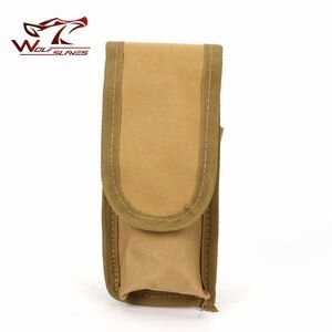 Tactical Molle Vest Accessory Utility Belt Bag Airsoft Hunting Camo Flashlight Battery Holster Case Pouch