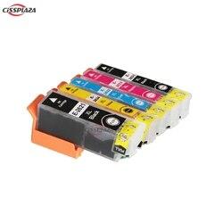 Cissplaza 5 peças t2621 T2631-T2634 compatível para epson XP-510/520/600/605/610/615/620/625/700/710/720/800/810/820//impressora