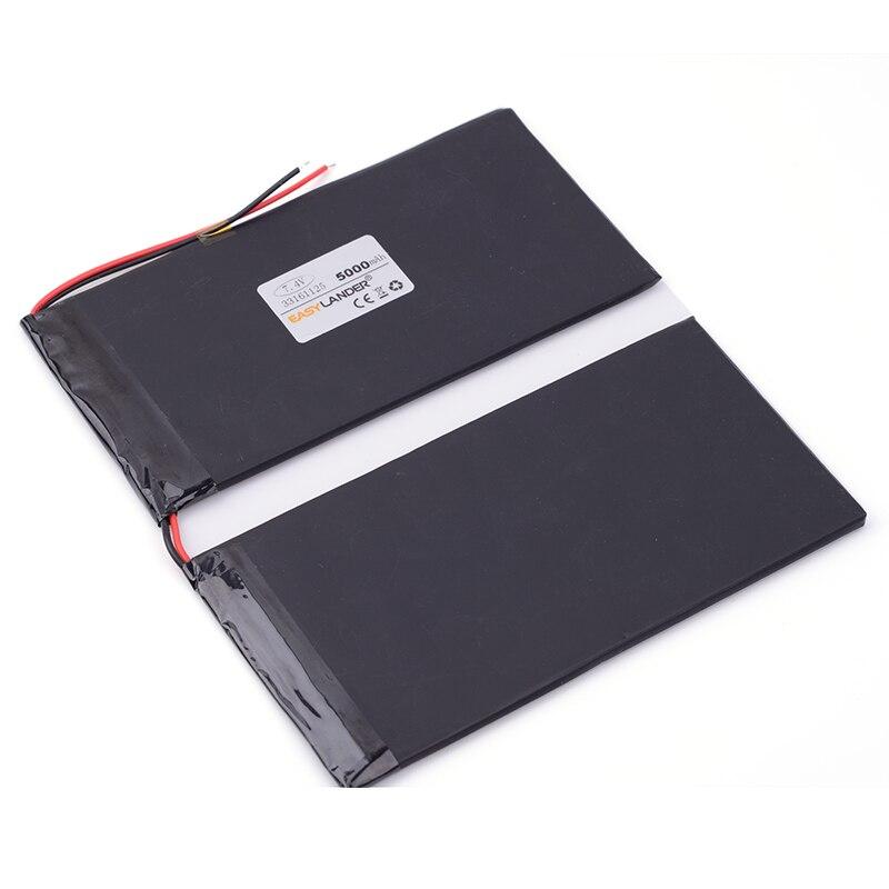 7,4 V 5000mAh 33161125 DIY U30GT, U30GT1, U30GT2 dual cuatro núcleos tablet pc baterías recargables 33161125 tamaño