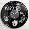 BAISER Rock Groupe Enregistre Horloge Disque Vinyle Matériel Classique Artistique CD Horloge Murale Cadeau pour BAISER Fans Creative Horloge Murale