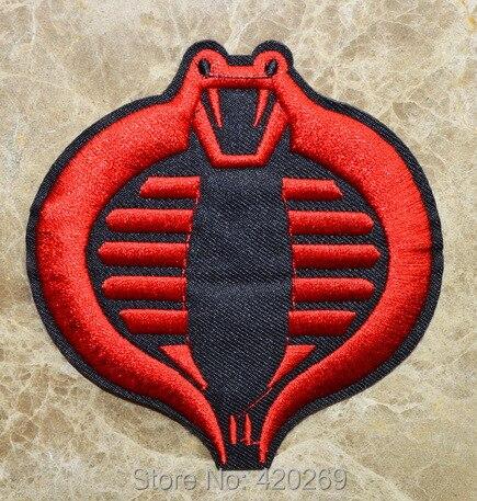 ¡Caliente SALL! ~ GI Joe Ninja Logotipo de COBRA película juegos de combate Iron On parches, coser en parche, apliques, hecho de tela, 100% calidad