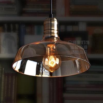 Vintage Pendant Lights Loft Pendant Lamp Retro Hanging Lamp glass Lampshade For Restaurant /Bar/Coffee Shop Home  Luminarias