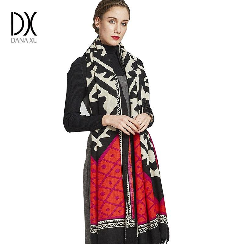 Bufanda de marca de lujo Cachemira capa Poncho lana invierno moda bufandas Cachemira y chales Pashmina Bandana protección facial chal musulmán