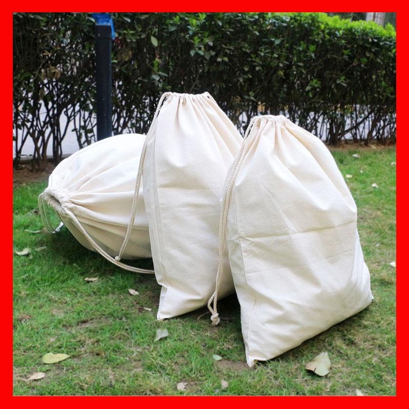 (500pcs/lot) size 20x30cm Wholesale organic  cotton bag with custom logo printed