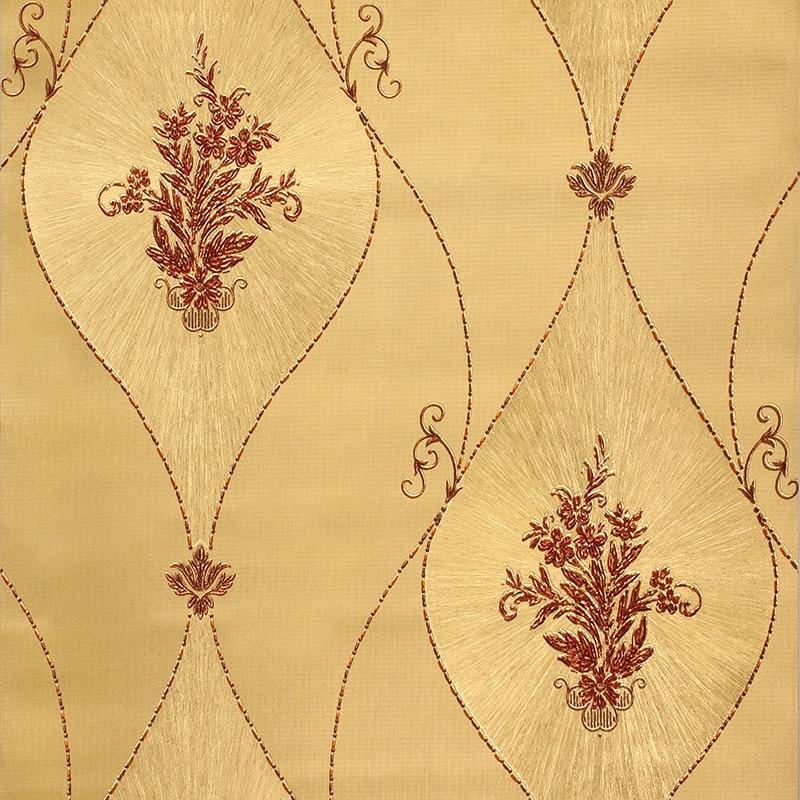 European Luxury 3D Gold Foil Wallpaper 3D Damask Golden Bedroom Background Wallpaper Mural Wall Paper Striped Floral wallpaper