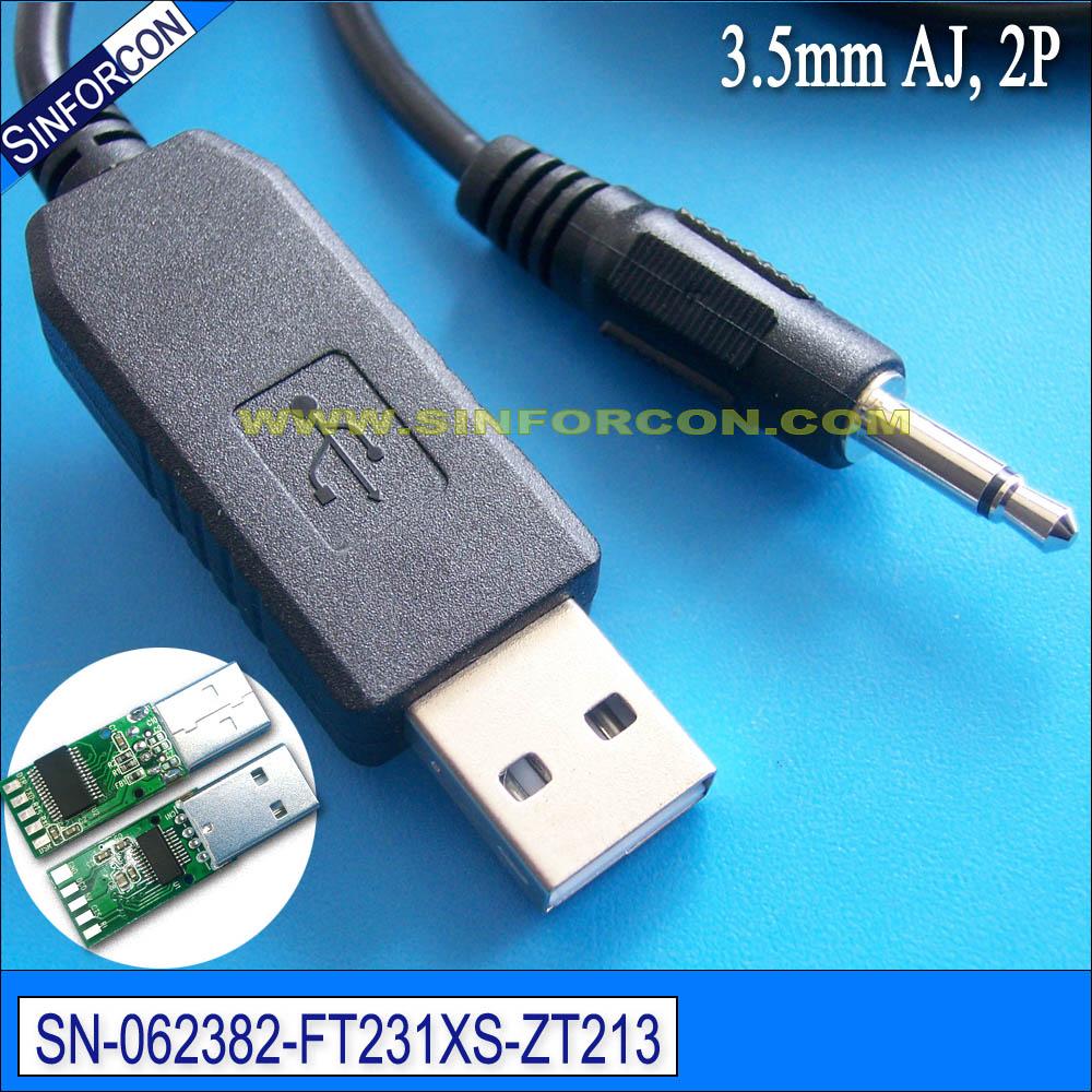 Ftdi ft231xs cable adaptador serial usb rs232 con conector de 3,5mm 2 polos