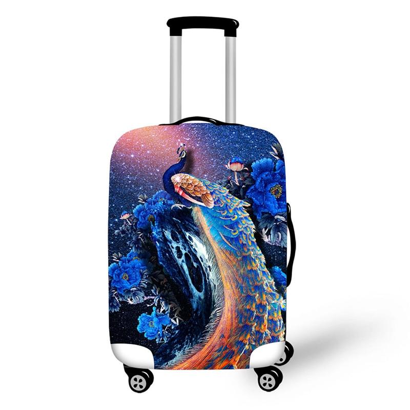 Kreatywne projektowanie podróży ochrona zwierząt krajobraz wzór podróży tarcza wodoodporny przenośna walizka walizka osłona przeciwdeszczowa