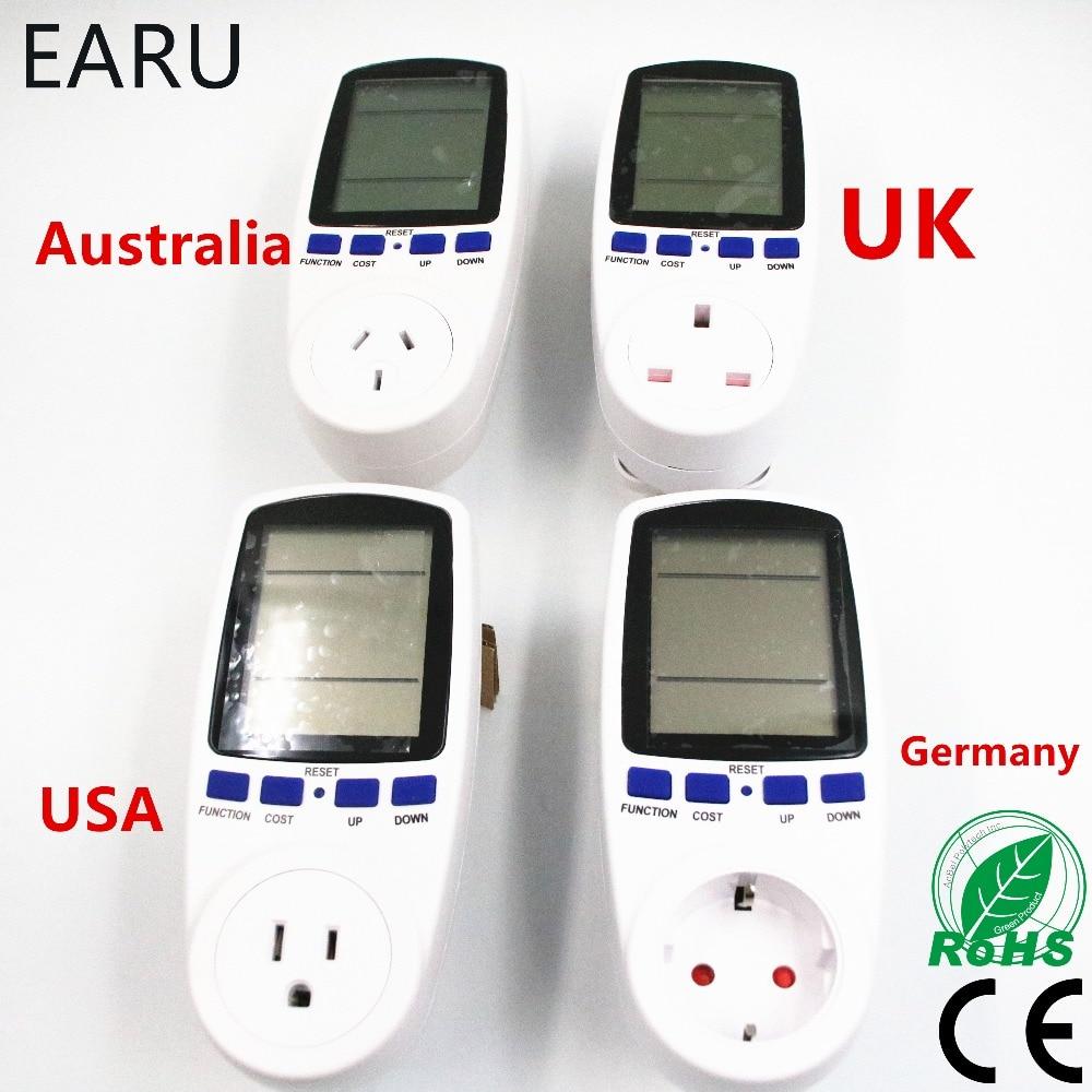 ONS USA UK EU Australië AU Duitsland Standaard Smart Home Stopcontact Power Meter Energy Voltage Ampère Elektriciteit Usage Watt Monitor