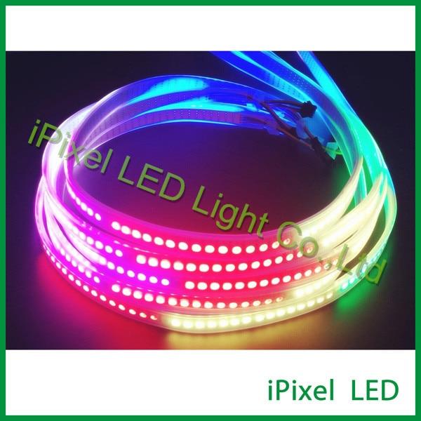 Direccionable smd 5050 rgb APA102 led cintas de luz, 144 LED de todo color direccionable led tira flexible