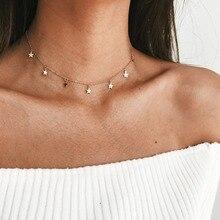 2019 nouveau Boho femmes chocker cou chaîne étoile Collier ras du cou collana Kolye Bijoux Collares Mujer gargantilha Collier Femme