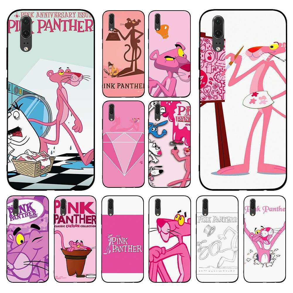 The Pink panther funny Soft Case for Huawei Y6 Y7 Y9 Prime 2017 2018 2019 Nova 2i 3 4 3i Lite Mate 10 20 Pro Lite