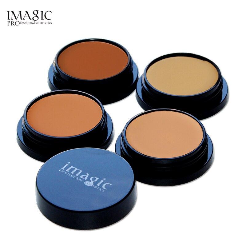 Imagic 4 colores de marca de maquillaje Base correctora de rostro crema Base de control de aceite para maquillaje de piel oscura