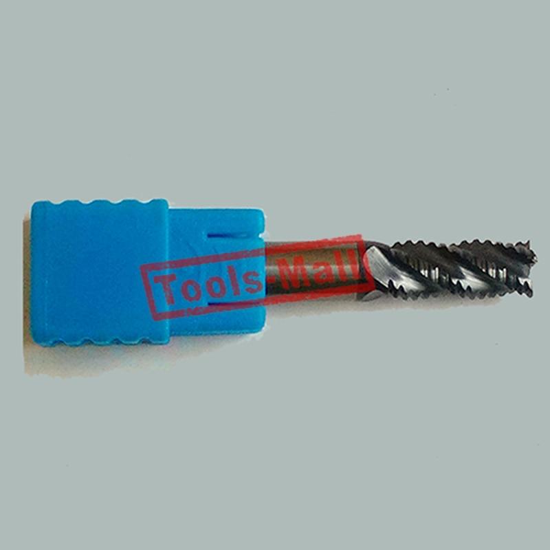 1 pc 6mm hrc55 D6 * 25 * D6 * 75 4 Flautas Desbaste End Mills Spiral Bit Fresagem ferramentas CNC Carbide Endmill Router bits