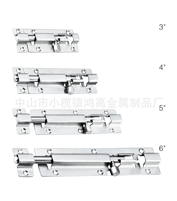 [Xi Ya] مسمار طويل 10 بوصة من الفولاذ المقاوم للصدأ مزلاج باب مصنع مظلم أوتوماتيكي