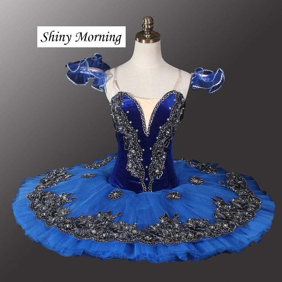 Professional Ballet Tutus Costume,Women Adult Blue PancakeTutu blue Classical Ballet Tutu Dress Harlequinade
