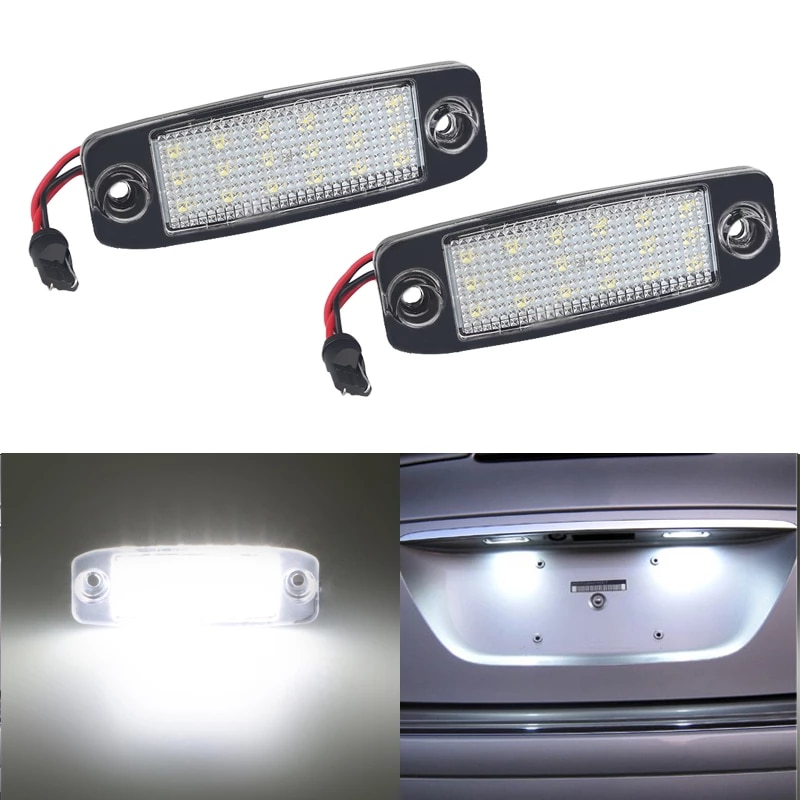 2pcs 12v 3w Led Number Plate Lamp Bulb Kit For Hyundai Sonata Yf 10my Gf 10 White Canbus License Plate Lights For Kia Sportage Signal Lamp Aliexpress