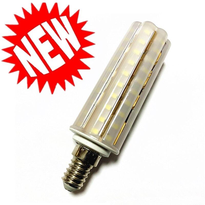 Nova lâmpada e14 e27 led dupla cor smd2835 12 w 16 18 220 v/ac milho lâmpada 60 80 90 leds lâmpada milho luz lustre