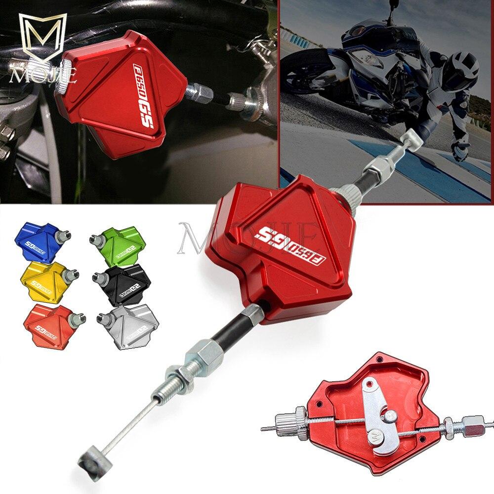 De aluminio CNC palanca de embrague para acrobacias sistema de Cable de tracción fácil para BMW F650GS F650 F 650 GS 2000-2005, 2001, 2002, 2003, 2004