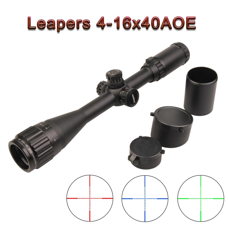 4-16X40 Riflescope Tactical Optische Richtkijker Rood Groen Nl Blauw Dot Sight Verlichte Retische Sight For a Jacht