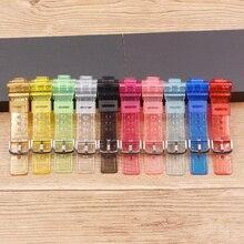 Watch accessories for Casio baby-g transparent strap BA-110/111/112/BGA-130 resin ladies watch strap