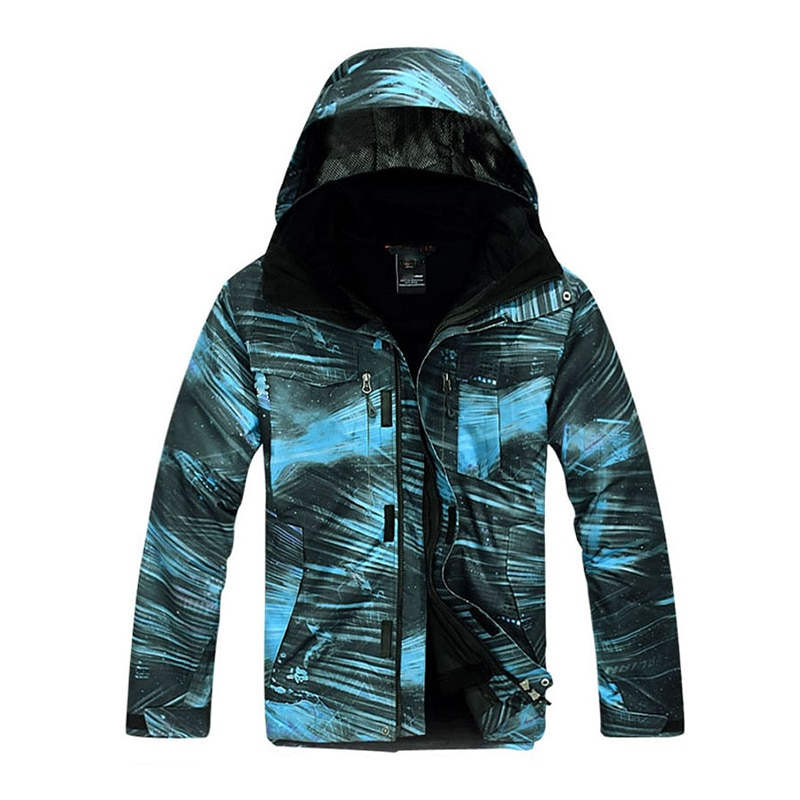 2021 Men 3-IN-1 Windbreaker Jacket Warm Hiking Jacket Waterproof Windproof Detachable Fleece 2 Pieces Outwear Breathable Coat