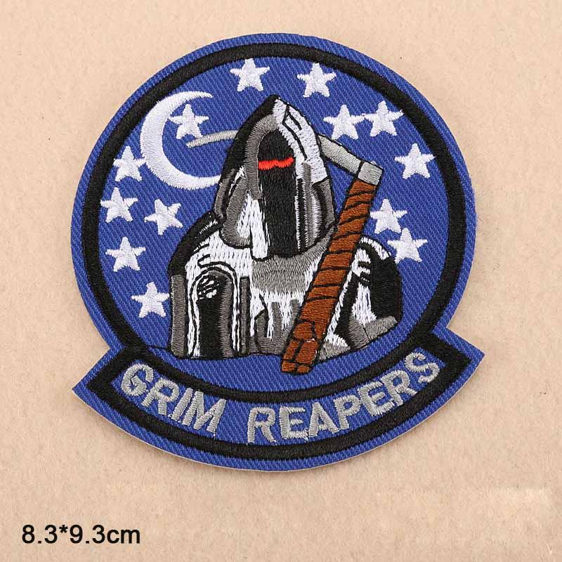 Death Grim Reapers al por mayor de hierro en tela bordada ropa parche para ropa niñas niños