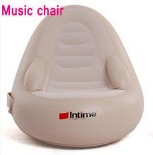 Massaal pvc opblaasbare massage stoel vouwen dutje tweeërlei gebruik fauteuil, muziek radio stoel, opgeblazen lucht zitzak sofa