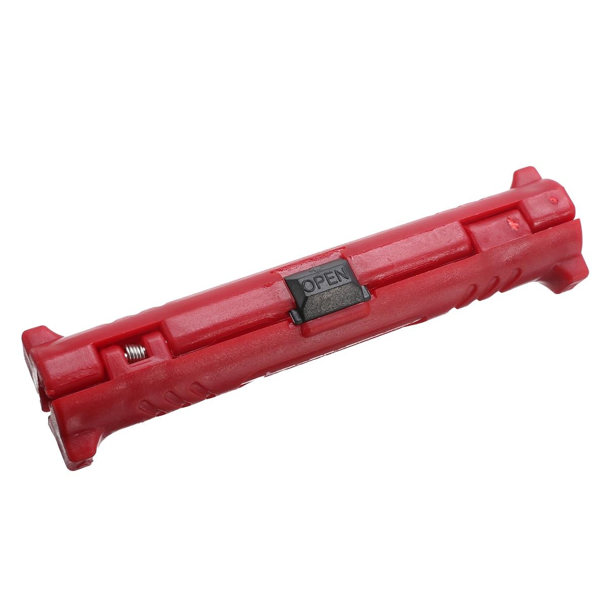 Multifunción Pelacables eléctrico pluma rotativa Cable Coaxial cúter tipo pluma Pelacables alicates herramienta para pelar cables