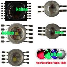 RGBW (RGB + W + Y + UV) 6 W, 9 W, 12 W, 15 W, 21 W Diodes émettrices de lampe à LED pour léclairage de scène puce de LED de puissance élevée 45mil LED épistar
