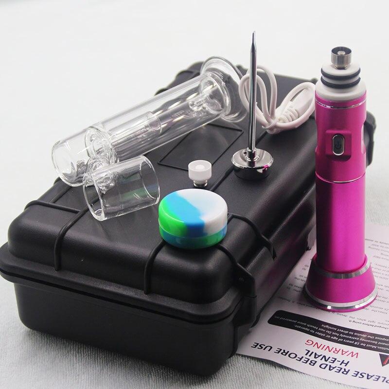 New coming portable electronic g9 henail with titanium -nail/ceramic -nail/ G9 dab enail wax vapor dry herb enlarge