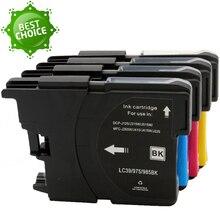Hot 4X Compatível LC cartucho de tinta 985 LC975 LC67 LC1100 LC980 LC985 para brother MFC-J265W MFC-J410 MFC-J415W DCP-J125 DCP-J515W