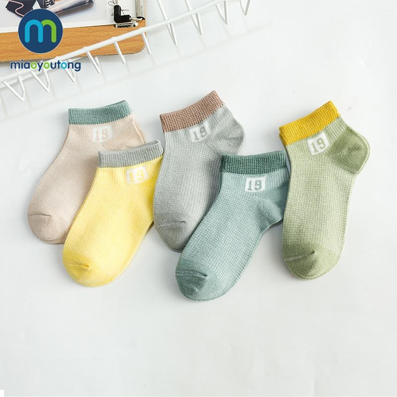 5 pares de malla suave número cómodo niños de algodón recién nacido Calcetines niños niñas calcetines de bebé Skarpetki Meia Infantil Miaoyoutong