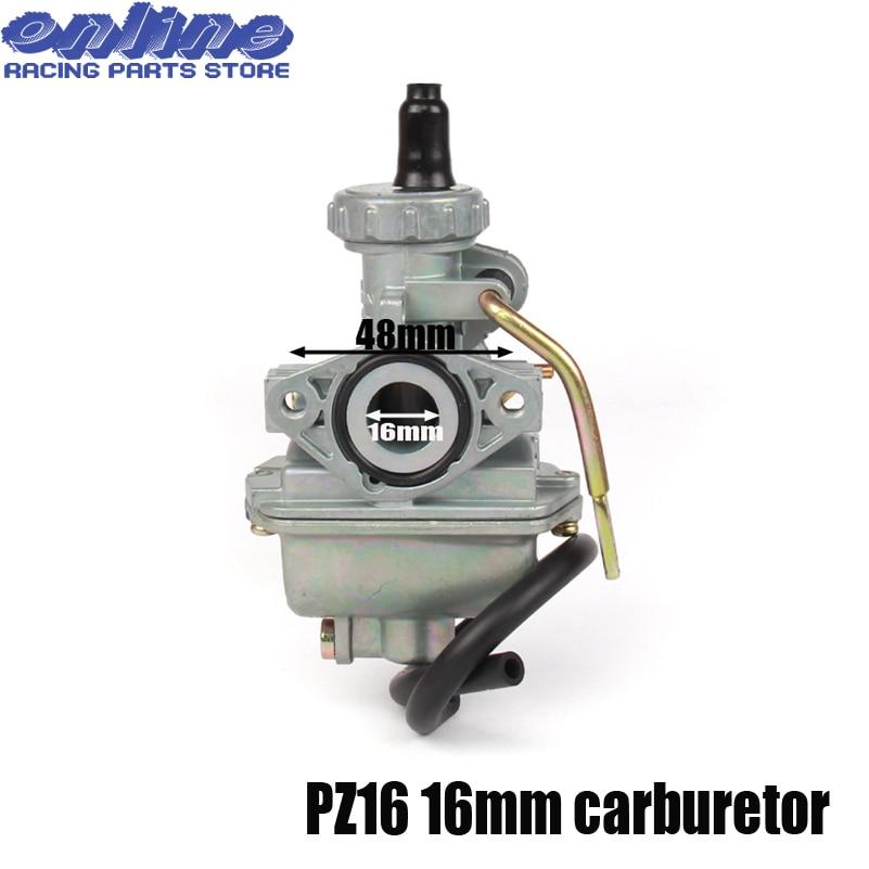 Hand Choke PZ16 16mm Carb Carburetor For KEIHI 50cc 70cc pit dirt bike motorcycle motorcross atv quad free shipping