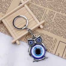 Bleu mauvais œil hibou porte-bonheur Protection gland cintre cristaux voiture Feng Shui porte-clés