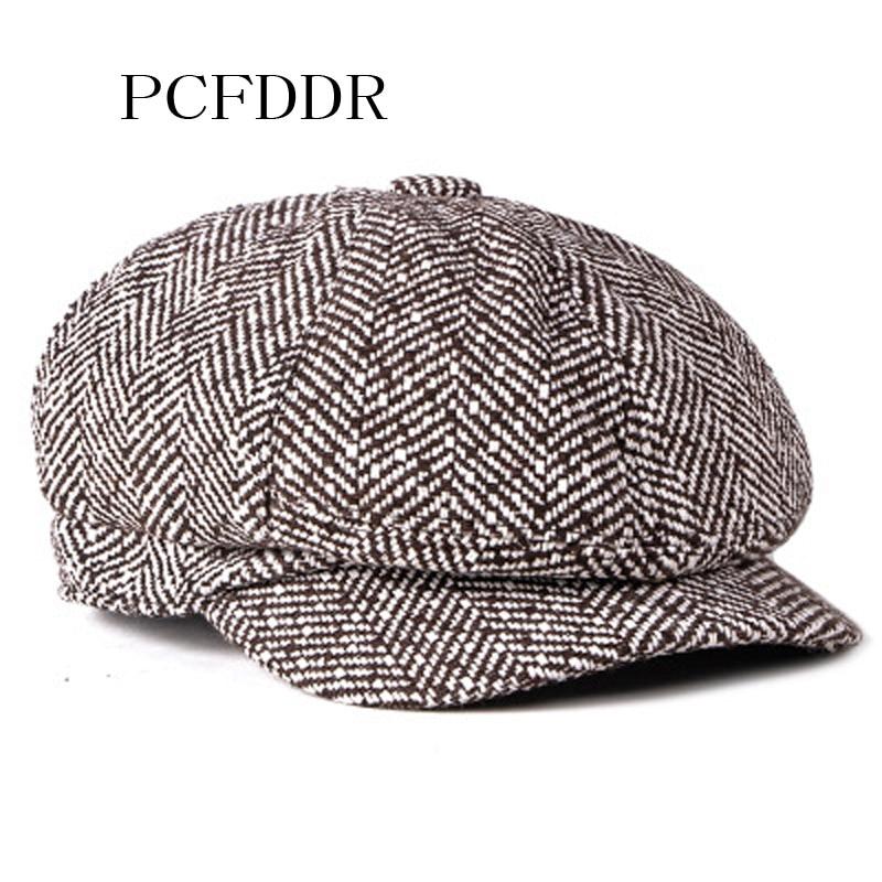 Boinas octogonales de pcfdr para gorros de punto de lana en otoño e invierno.