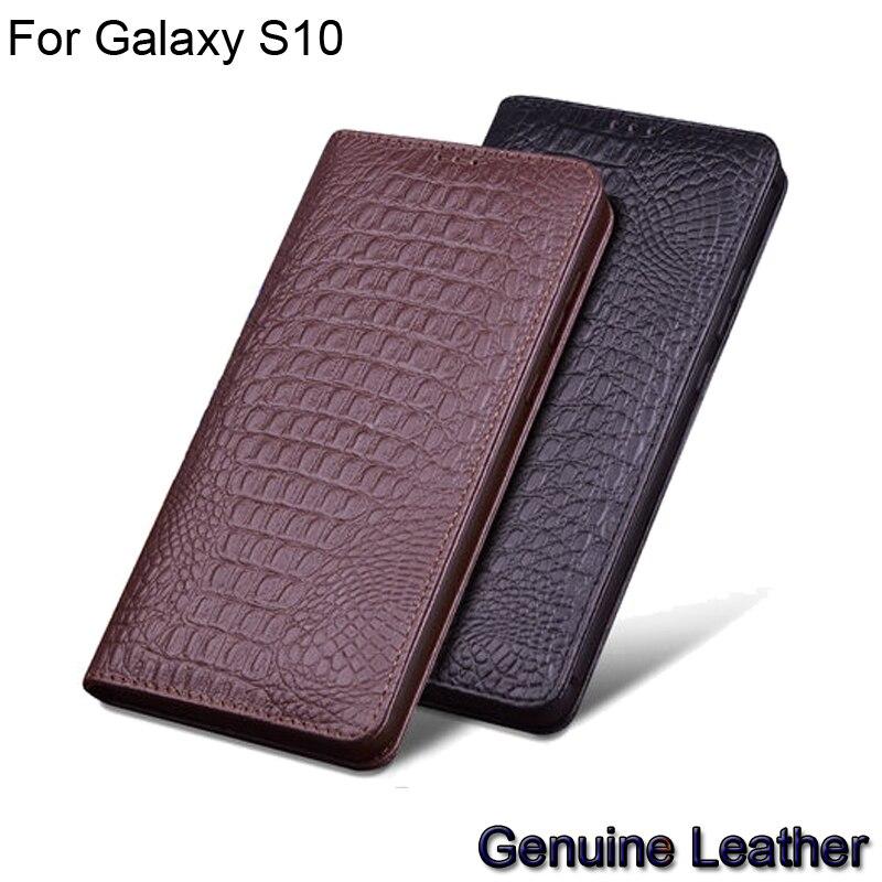 Funda de teléfono de lujo de cuero genuino con tapa para Samsung Galaxy S10 de cuero medio paquete para Samsung GalaxyS10 fundas de teléfono SM-G9730