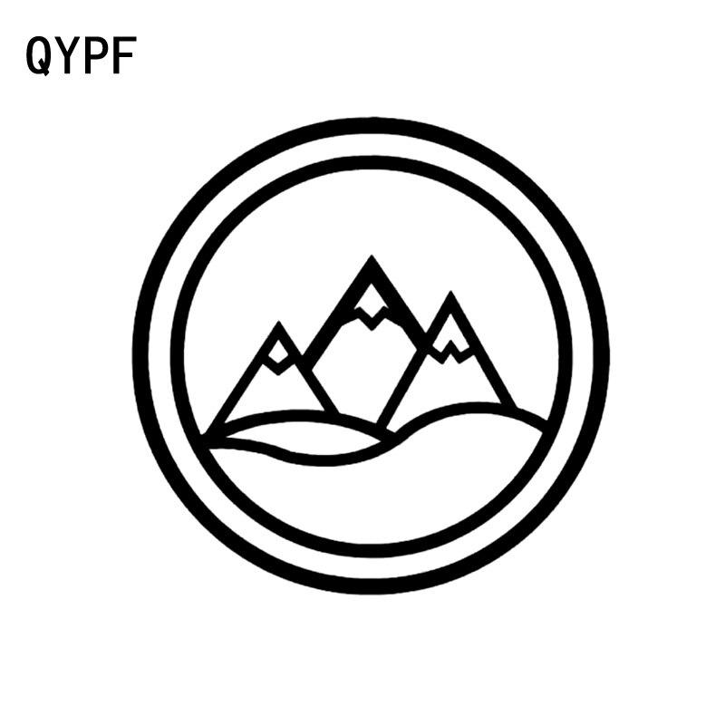 QYPF 14.6cm*14.6cm Surround The Brief Strokes Mountains Delicate Vinyl Car Sticker Unusual Window Decal C18-0351