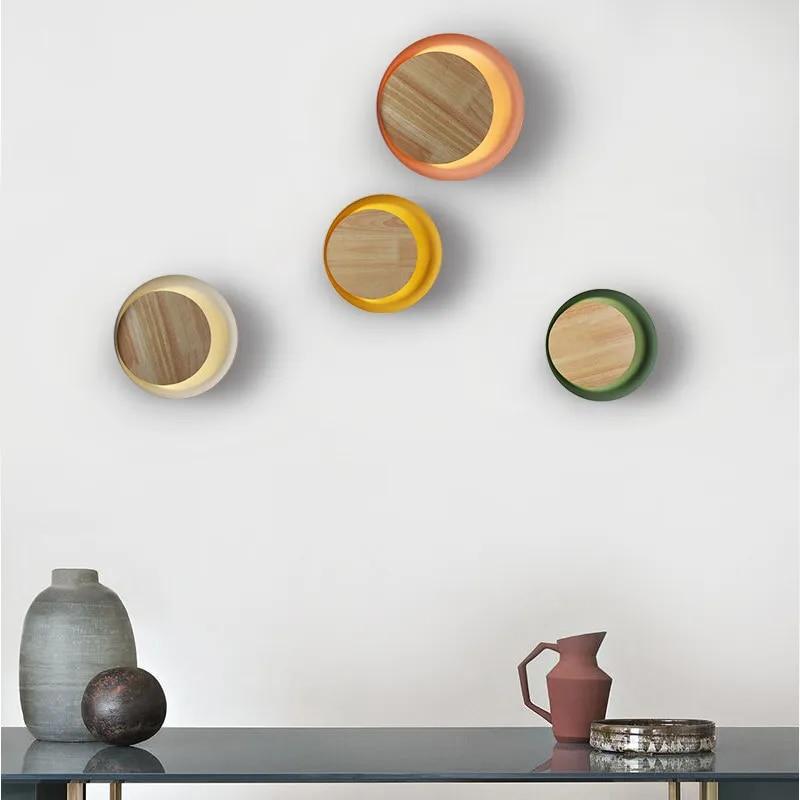 Applique murale en bois créative et moderne, style nordique, pour chambre à coucher, chevet, balcon, allée, porche, hôtel, café, loft