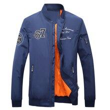 Nice Men Motorcycle Flight Jacket Coats Brand-clothing Embroidery Logo Pilot Air Force Men Bomber Baseball Coat Outwear XXL