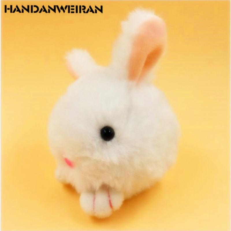 1PCS Mini Rabbit plush toys keychain fine plush rabbit phone bag Pendant Cartoon Animal Stuffed Plush small pendant for girl 7cm недорого