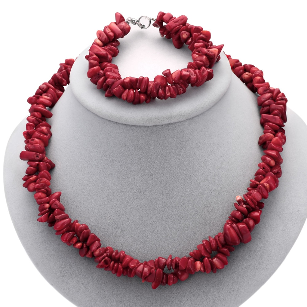 Colorido 100% cuentas de piedra Natural hecho a mano gargantilla collar encanto pulseras de cuentas para mujeres collar pulsera conjunto Boho joyería