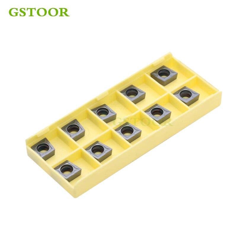 10 Uds insertos de carburo CCMT060204 CCMT060208 GM9030 herramientas de torneado herramienta de torno de CNC interno cortador para acero inoxidable