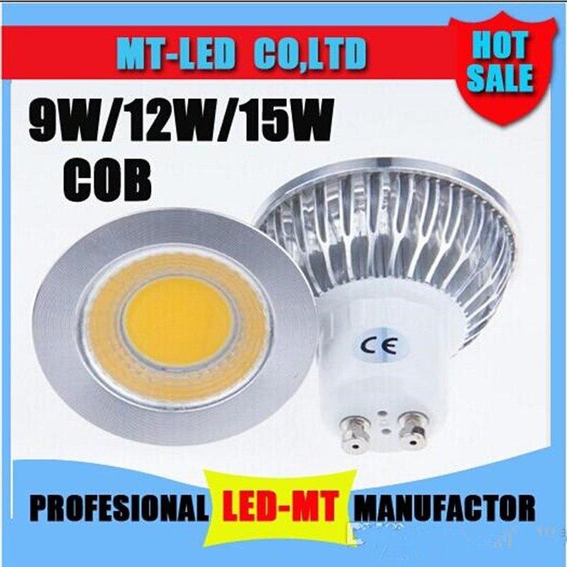 1X Led licht 9 W 12 W 15 W COB MR16 GU10 E27 E14 LED Dimmen Спортивная лампа высокой мощности лампа MR16 12 V E27 GU10 AC 110 V 220 V