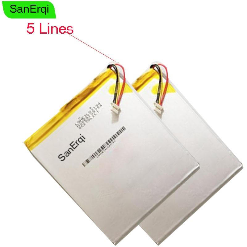 SanErqi 5 проводов 409694 3,7 V 5000MAH полимерные батареи для Onda Tablet батарея 409694P V820W 5 линий батареи