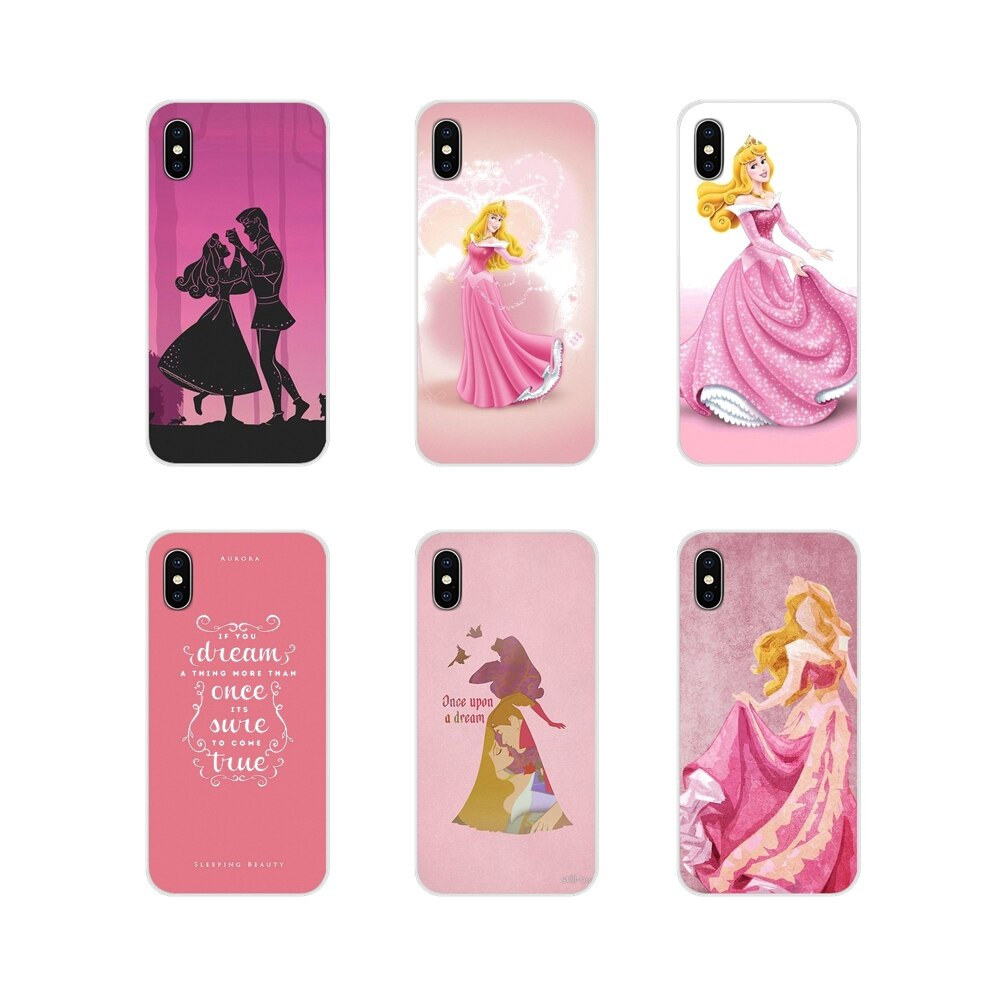 Funda transparente de TPU para Apple iPhone X XR XS MAX 4 4S 5 5S 5C SE 6 6S 7 8 Plus ipod touch 5 6 La Bella Durmiente princesa