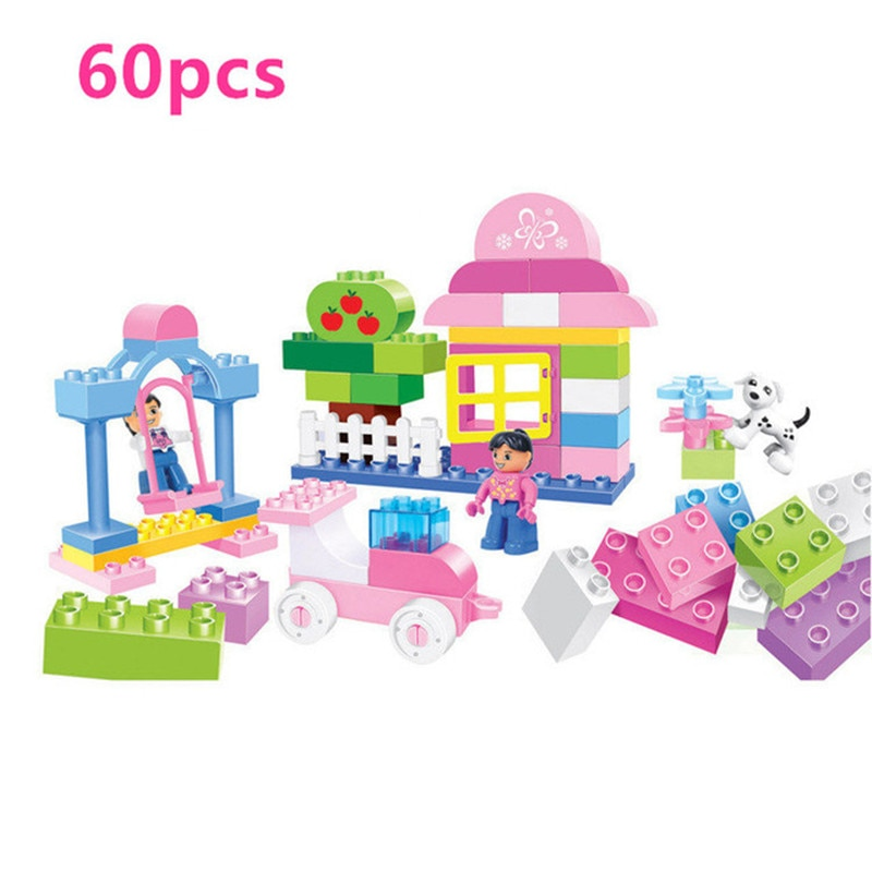 House Swing Playground Original Girl Princess Building Blocks Kids Baby Toys Bricks Compatible With Duploed Christmas Gift